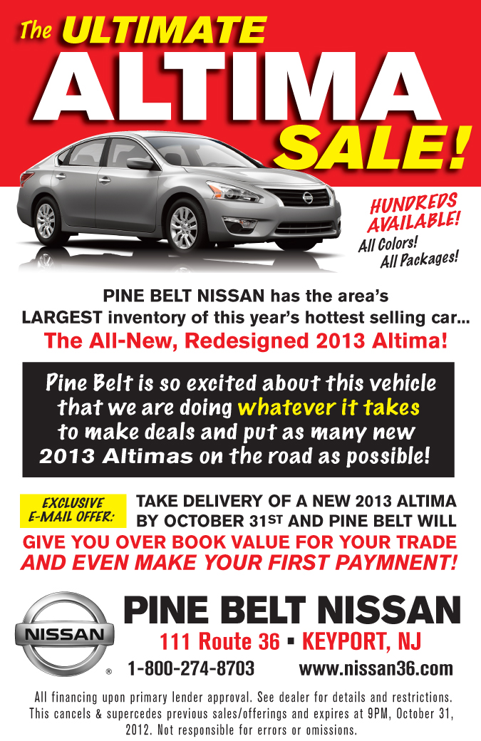 Beautiful Pine Belt Nissan Altima Sale | Servicing Customers From Keyport To Hillside  Nissan. By Martindamato1 ...