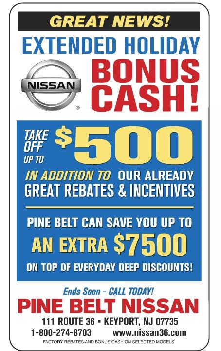 Pine Belt Nissan Of Keyport | 111 US Highway 36 | Keyport NJ 07735